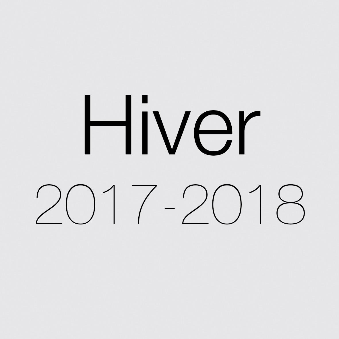 HIVER 2017-2018