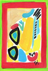 Cyb. Huile sur toile, 2016. 9 x 24 cm. Coll. M. A.-L.