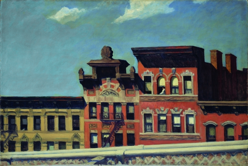 Edward Hopper, From Williamsburg Bridge, 1928, Huile sur toile, 73.7 x 109.2 cm, The Metropolitan Museum of Art, New York; George A. Hearn Fund, 1937 (37.44)
