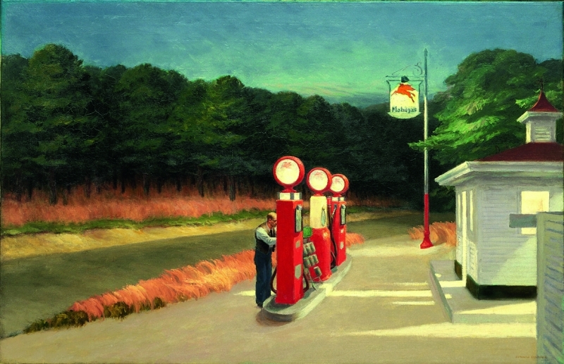 Edward Hopper, Gas, 1940, Huile sur toile, 66,7 x 102,2 cm, The Museum of Modern Art, New York., Mrs. Simon Guggenheim Fund, 1943