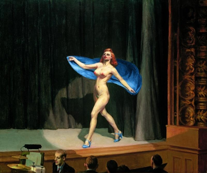 Edward Hopper, Girlie show, 1941, Huile sur toile, 81,3 x 96,5 cm, Collection de Fayez Sarofim