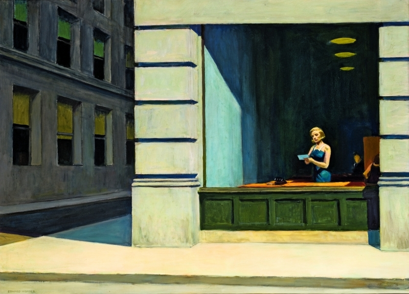 Edward Hopper, New York Office, 1962, Huile sur toile, 102,87 x 140,02 cm, Montgomery Museum of Fine Arts, Montgomery, Alabama, The Blount Collection