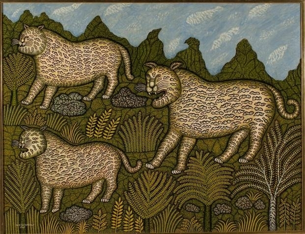 Morris Hirshfield, Leopard Family, 1943