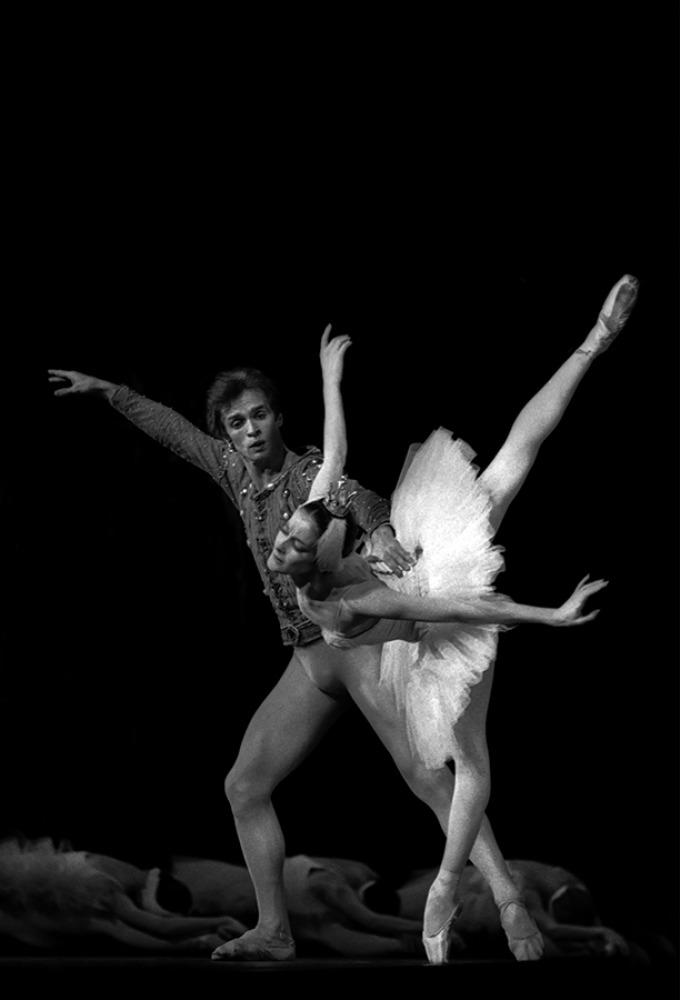 Noëlla Pontois avec Rudolf Noureev, Lac des Cygnes