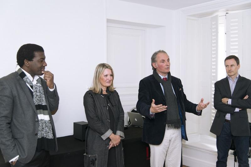 De gauche à droite: Ibrahim Sorel Keita - Mylène Vignon - Frédéric Ballon - Guillaume Luzé