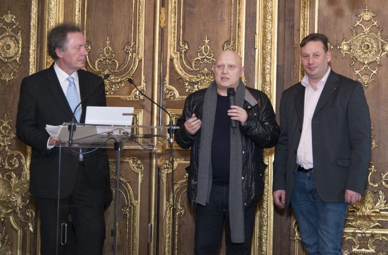 Jean-Pierre Guéno, Jean-Claude Vrain et Adrien Perreau