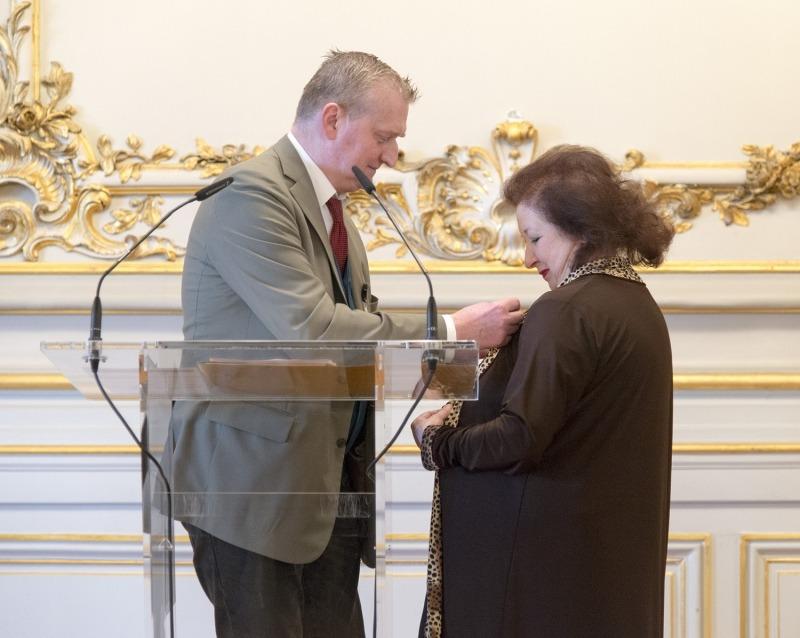 Guy Cocheval Président des musée d'Orsay et de l 'Orangerie et Josette Rispal