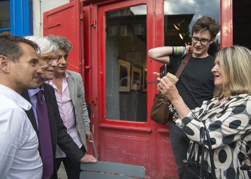 Alain Laub, Henry Chapier, Jean Merhi et Mylène Vignon