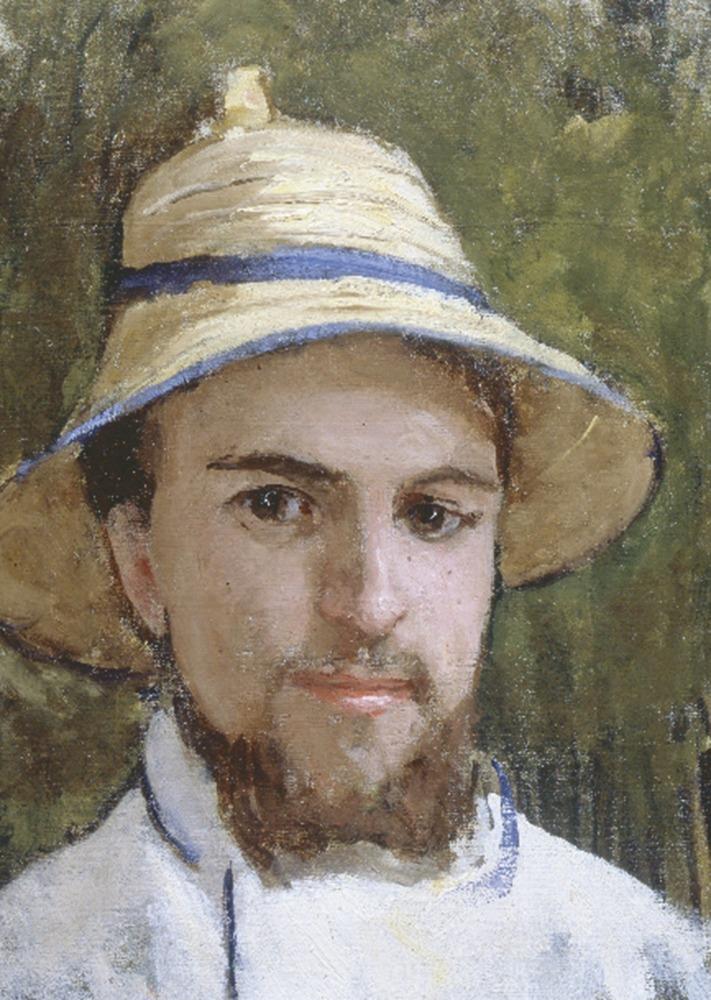 Gustave Caillebotte, , Autoportrait au chapeau d'été, c.1872/1878, Huile sur toile, 44 x 33 cm, Collection particulière, Avec la courtoisie du Comité Caillebotte, Paris