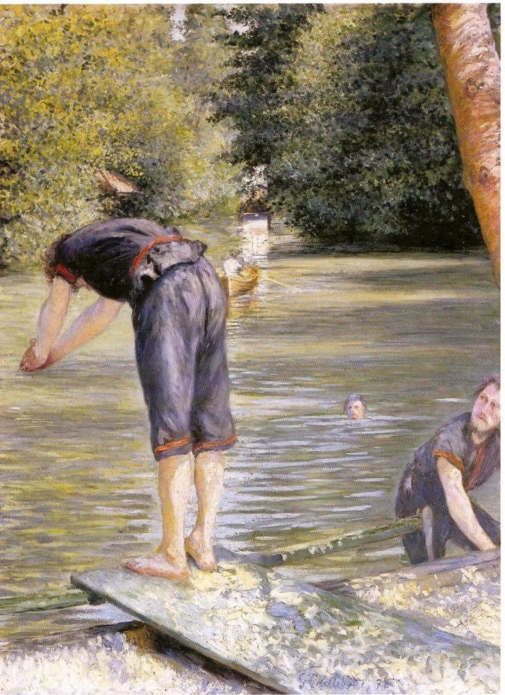 Gustave Caillebotte, , Baigneurs, bords de l'Yerres, 1878, Huile sur toile, Avec la courtoisie du Comité Caillebotte,, Paris