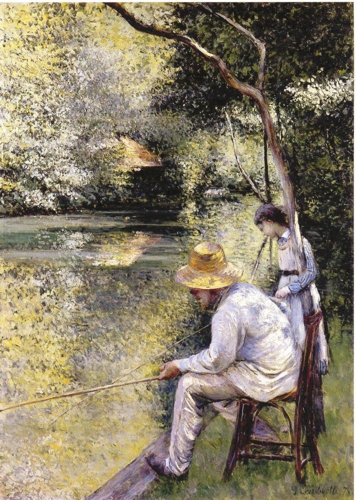 Gustave Caillebotte, , Pêche à la ligne, 1878, Huile sur toile, Avec la courtoisie du Comité Caillebotte,, Paris