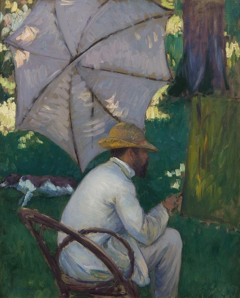 Gustave Caillebotte, , Peintre sous son parasol, 1878, Huile sur toile, 80 x 65 cm, Collection particulière, Avec la courtoisie du Comité Caillebotte, Paris