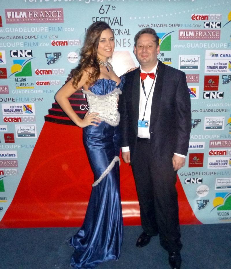 Adrien Perreau et Miss Cannes